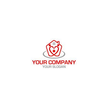 Home Care Ederly Logo Design Vector Illustration
