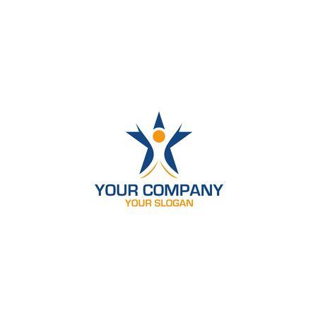 Star People Logo Design Vector