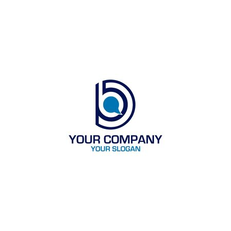 DB Chat Logo Design Vector