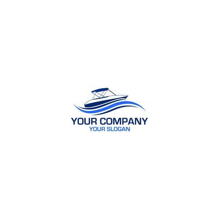 Sailing Yacht Logo Design Vector