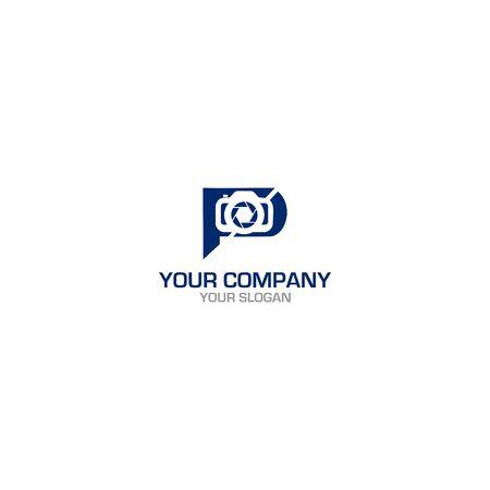 FP Photography Logo Design Vector