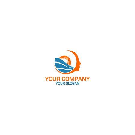 Beacon Mental Health Logo Design Vector Illustration