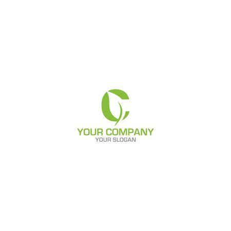 C Leaf Logo Design vector