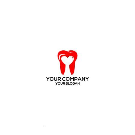 Love Dental Logo Design Vector