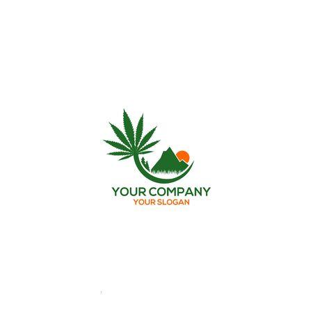 Mountain Hemp Farm Logo Design vector