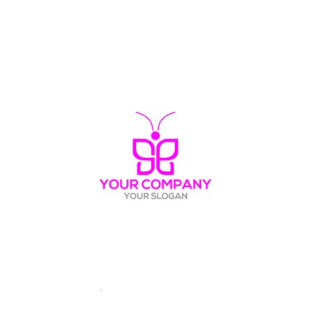 SE Butterfly Logo Design Vector