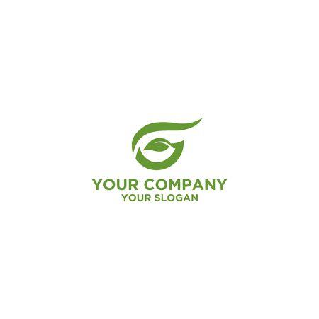 G Leaf Logo Design Vector Ilustração