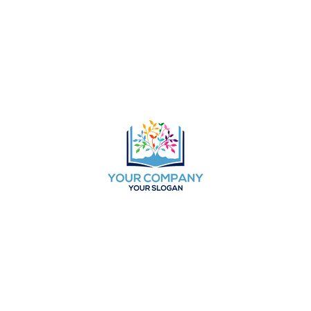 Tree Book Logo Design Vector 向量圖像