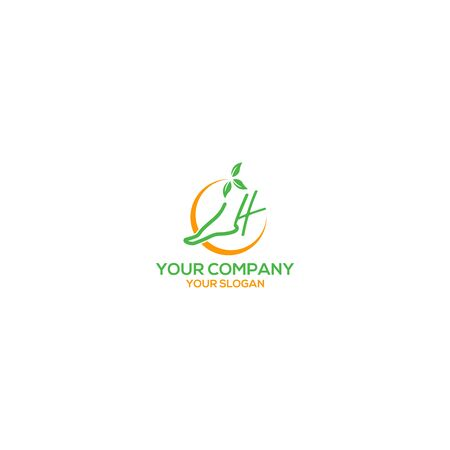 Foot and Ankle Care Logo Design Vector Ilustrace