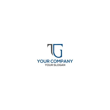 Simple TG Logo Design Vector