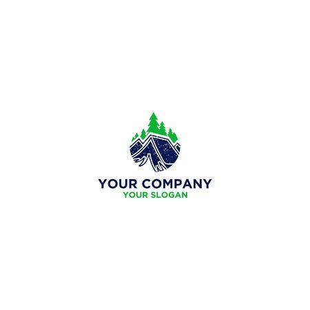 Natural Pine Camp Design Vector