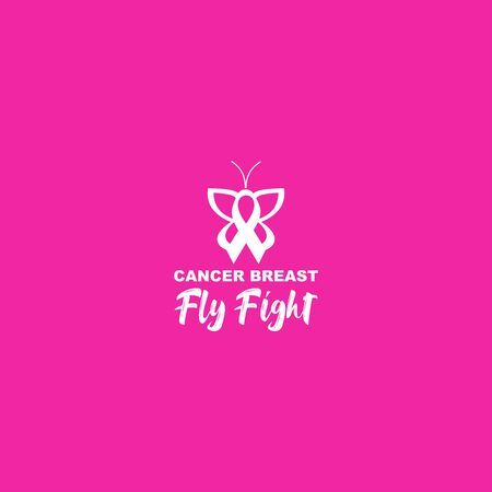 Fight Breast Cancer Logo Design Vector