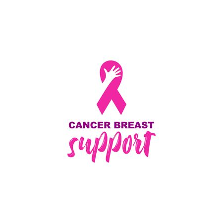 Help Fight Breast Cancer Logo Design Vector