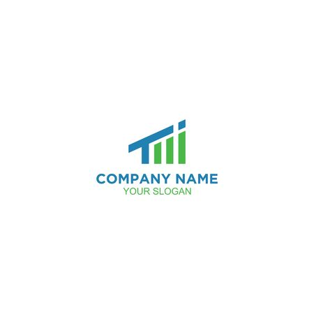 TI Accounting Growth Logo Design Vector Stock Illustratie