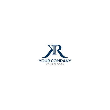 KR Legal Law Firm Logo Design Vector Vectores