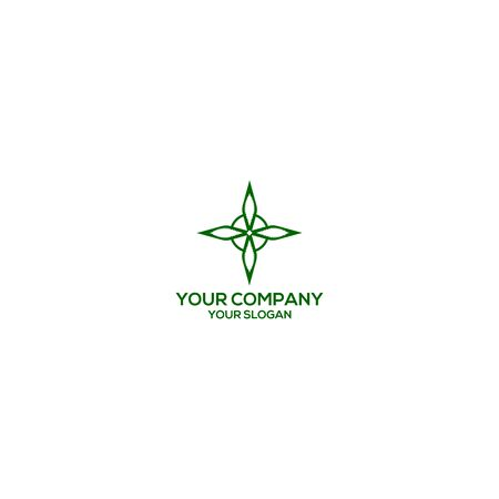 Witchs Knot cannabis protect logo design vector Stock Illustratie
