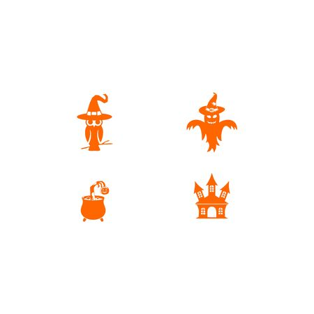 Halloween set graphic vector template Ilustracja
