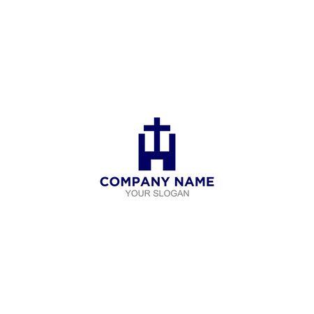 H Church Logo Design vector