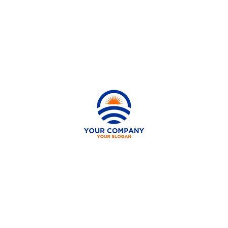 Horizon Wifi Logo Design Vector Ilustracja
