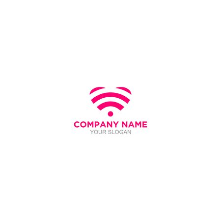 Love Wifi Logo Design Vector