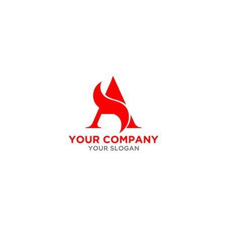 Red SA Logo Design Vector