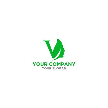 V Skin care Logo Design Vector