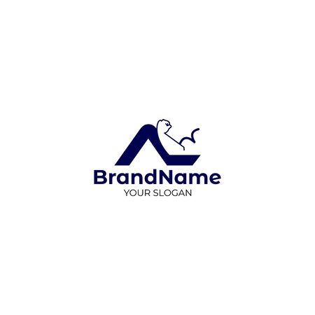 AL BodyBuilding Logo Design Vector
