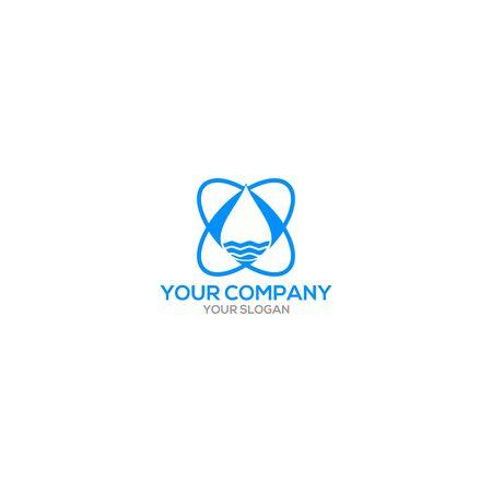 Water Sanitary Logo Design Vector