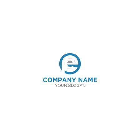Circle EP Logo Design Vector Logo