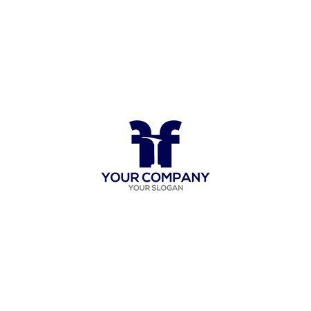 FF shoemaker tool logo design vector