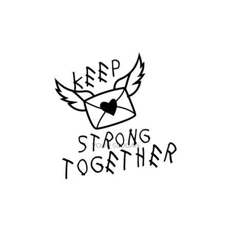 Keep Strong Together Mail Letter illustration