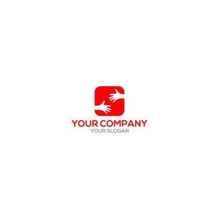 S Square Hand Logo Design Vector Ilustração