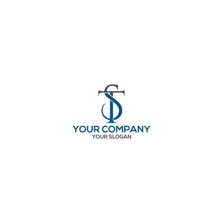 Simple TS Logo Design Vector Logó