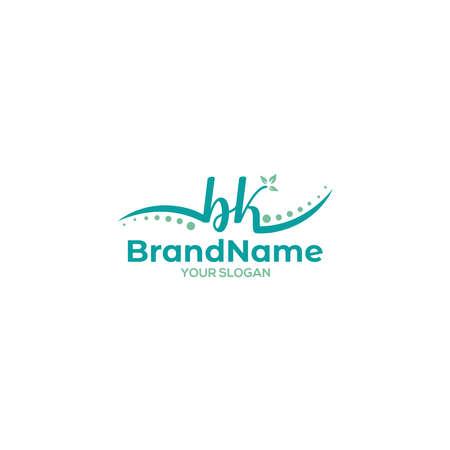 BK Chiropractic Logo Design Vector