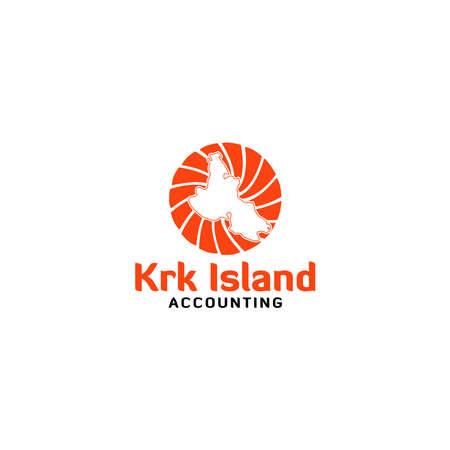 Krk Island Accounting Logo Design Vector