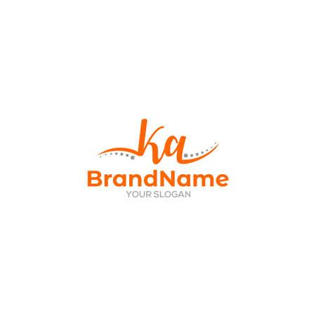 KA Chiropractic Logo Design Vector Logos