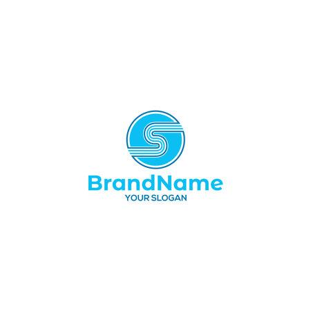 S Line Circle Logo Design Vector