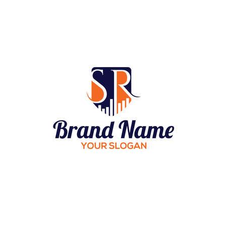 SR Accounting Logo Design Vector Logo