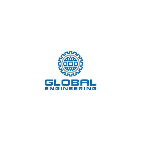 Global Engineering Logo Design Vector
