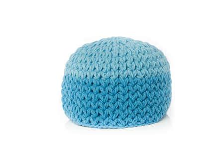 Blau gestrickt Wollmütze