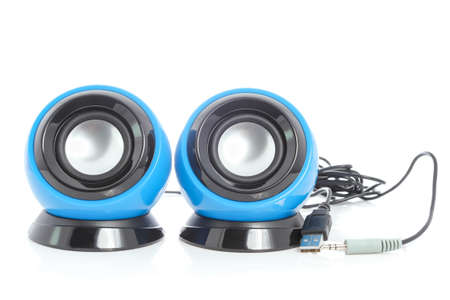 computer speaker: speakers isolated on white