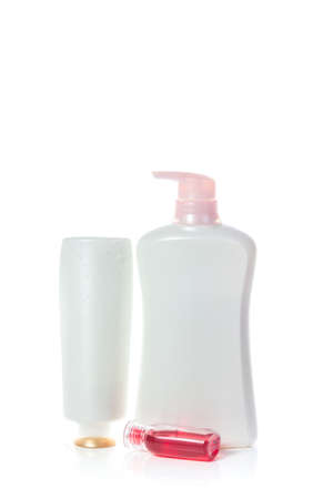 toiletries: Toiletries on white background