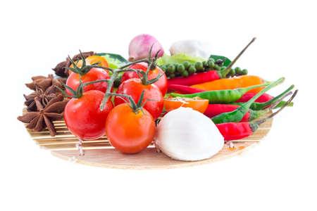 witte achtergrond: Vegetable on white background Stockfoto