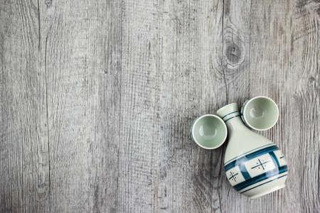 japanese sake: juego de beber sake japonés Foto de archivo