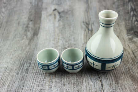 japanese sake: juego de beber sake japon�s Foto de archivo