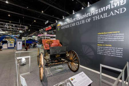 wheeler: Bangkok, Thailand - December 4, 2015 : Black High Wheeler from  Vintage car club  of Thailand at Thailand International Motor Expo 2015 (MOTOR EXPO 2015) on December 4, 2015 in Bangkok, Thailand.
