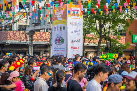 13 15 years: Bangkok, Thailand - April 13, 2016: Bangkok Songkran Festival Siam Square 2016, The Songkran festival is celebrated in Thailand as the traditional New Years Day from 13 to 15 April.