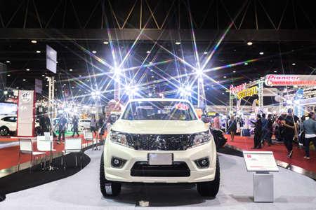 modificar: BKK. THAILAND-JUNE 23 : Status of decorate, design of racing car in Bangkok International Auto Salon 2016, 22-26 June 2016 at Bangkok, Thailand. Event of decoration & modify car of Thailand and Japan.