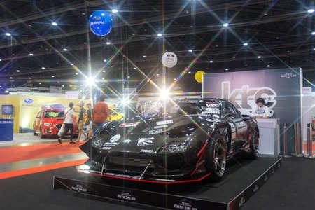 modificar: BKK. THAILAND-JUNE 25 : Status of decorate, design of racing car in Bangkok International Auto Salon 2016, 22-26 June 2016 at Bangkok, Thailand. Event of decoration & modify car of Thailand and Japan. Editorial