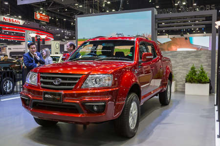 Bangkok, Thailand - December 11, 2016 :  TATA car  at Thailand International Motor Expo 2016 (MOTOR EXPO 2016) on December 11,2016 in Bangkok, Thailand. Redakční